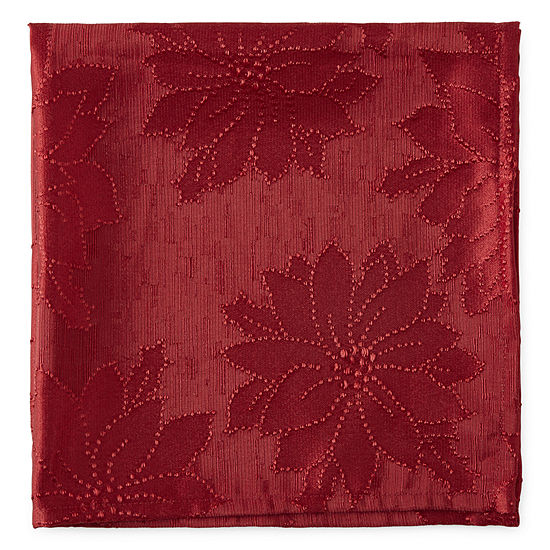 North Pole Trading Co. Poinsettia Seasons 4-pc. Napkins