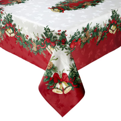 JCPenney Home Holly Bells Tablecloth