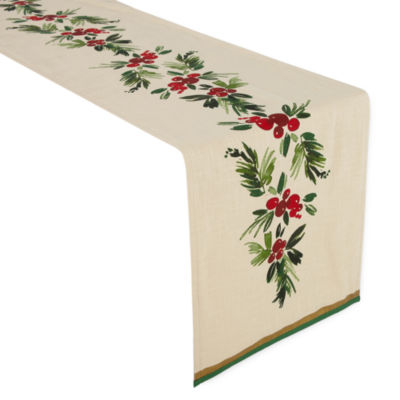 JCPenney Home Festive Sprig Table Linens
