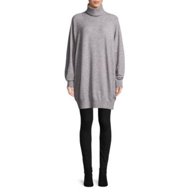 Tracee Ellis Ross for JCP Rejoice Long Sleeve Turtle Neck Sweater Tunic