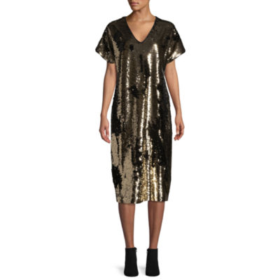 Tracee Ellis Ross for JCP Glow Short-Sleeve Reversible Sequin Dress