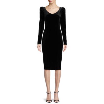 Bisou Bisou Long Sleeve Velvet Dress