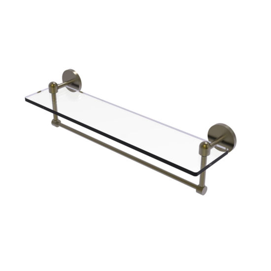 Allied Brass Tango Collection 22 IN  Glass VanityShelf  With Integrated Towel Bar