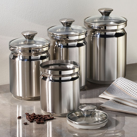 Tramontina Gourmet 8-pc. Stainless Steel Canister Set