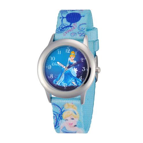 Disney Cinderella Kids Time Teacher Blue Strap Watch