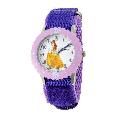Disney Belle Kids Time Teacher Purple Strap Watch