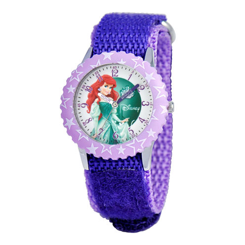 Disney Ariel Kids Time Teacher Purple Strap Watch