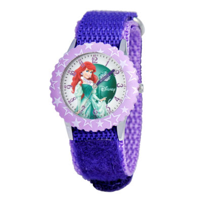 Disney Ariel Kids Time Teacher Purple Strap Watch
