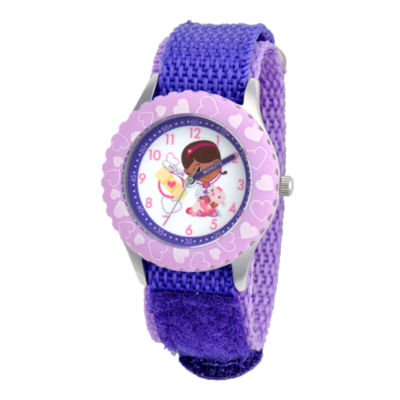 Disney Doc McStuffins Kids Time Teacher Purple Strap Watch