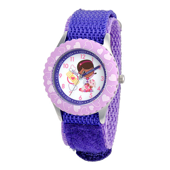 Disney Doc Mcstuffins Kids Time Teacher Purple Strap Watch