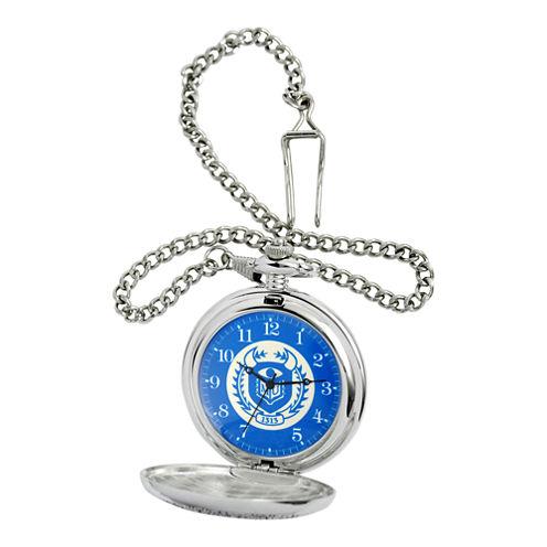 Disney Monsters University Blue & Silver-Tone Pocket Watch