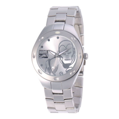 Marvel Fortaleza Iron Man Mens Silver-Tone Watch