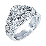 1 CT. T.W. Diamond  14K White Gold Bridal Set