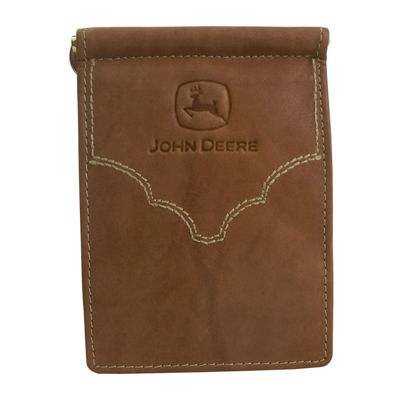 John Deere® Front Pocket Leather Wallet