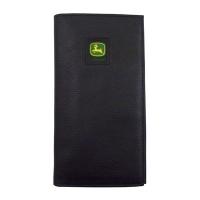 John Deere® Leather Checkbook Wallet