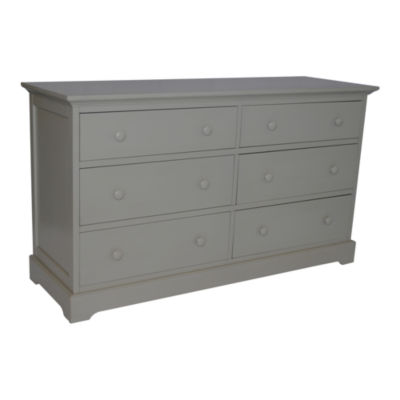 Centennial Chesapeake 6 Drawer Double Dresser - Light Grey