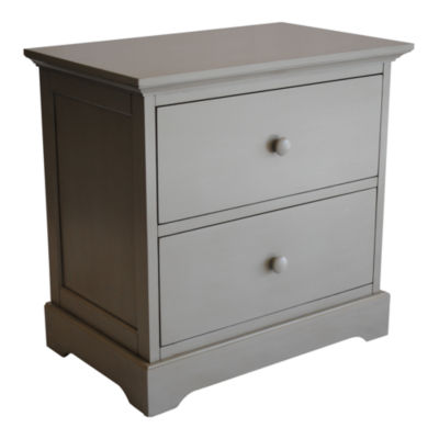 Centennial Chesapeake 2 Drawer Nightstand - Light Grey