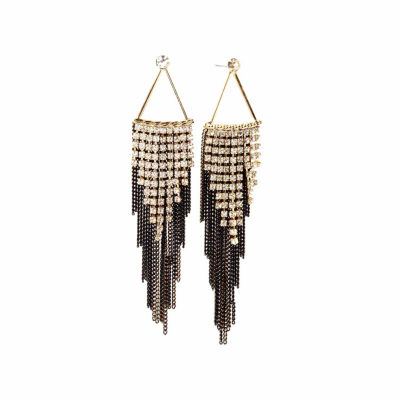 Natasha Accessories White Drop Earrings