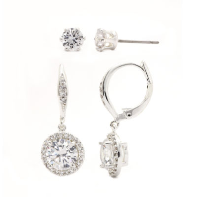 Sparkle Allure Cubic Zirconia Drop Earrings