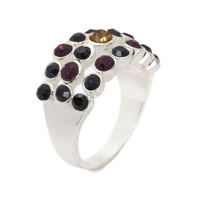 Sparkle Allure Womens Multi Color Cocktail Ring
