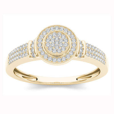1/7 CT. T.W. Round White Diamond 10K Gold Engagement Ring
