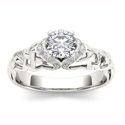 1/2 CT. T.W. Round White Diamond 14K Gold Engagement Ring