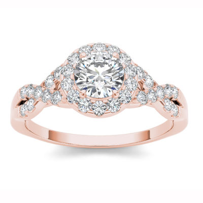 Womens Round White Diamond