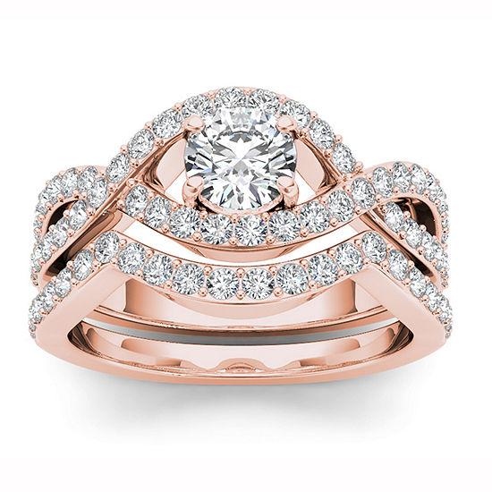 Womens 1 1 2 Ct Tw White Diamond 14k Gold