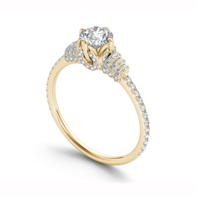 Womens 1 CT. T.W. Round White Diamond 14K Gold