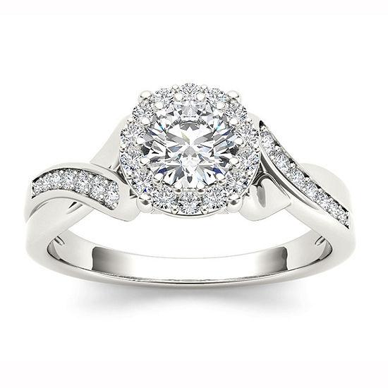 1 CT. T.W. Round White Diamond 14K Gold Engagement Ring