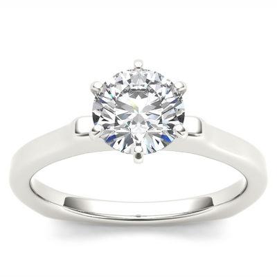Womens 1 CT. T.W. Genuine White Diamond 14K Gold Solitaire Ring