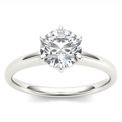 1 CT. T.W. Round White Diamond 14K Gold Solitaire Ring