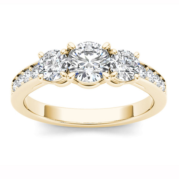 1 1/2 CT. T.W. Round White Diamond 14K Gold 3-Stone Ring