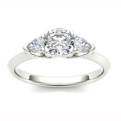 1 CT. T.W. Round White Diamond 14K Gold 3-Stone Ring