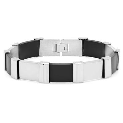 Stainless Steel 8 Inch Solid Link Link Bracelet