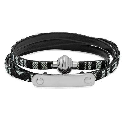 Steeltime Mens White Stainless Steel Id Bracelet