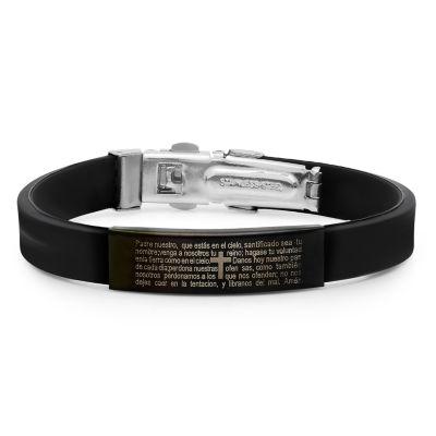 Steeltime Stainless Steel 8 Inch Solid Id Bracelet