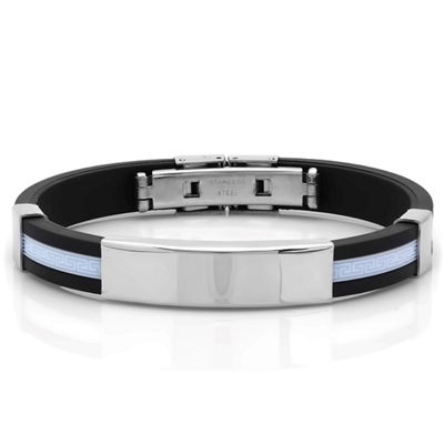 Steeltime Mens Stainless Steel Id Bracelet