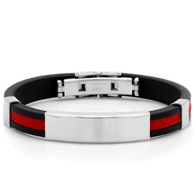 Steeltime Stainless Steel 8 Inch Solid Id Bracelet