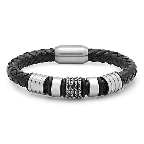 Steeltime Mens Stainless Steel Wrap Bracelet