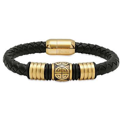 Mens 18K Stainless Steel Wrap Bracelet
