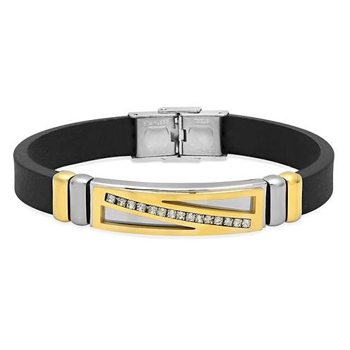 Mens 18K Stainless Steel Id Bracelet