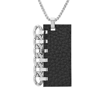 Steeltime Mens Stainless Steel Pendant Necklace