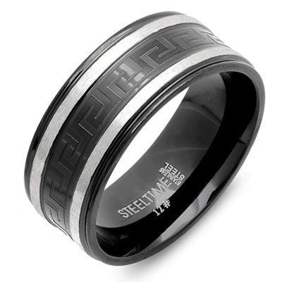 Steeltime Mens 9 Mm Stainless Steel Band