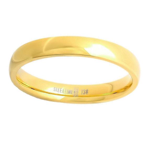 Steeltime Mens 4 Mm 18K Gold Stainless Steel Band