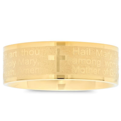 Steeltime Mens 6mm 18K Gold Stainless Steel Band