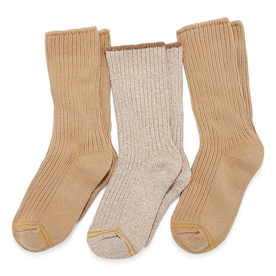 Gold Toe 3 Pair Crew Socks Boys Little Kid / Big Kid