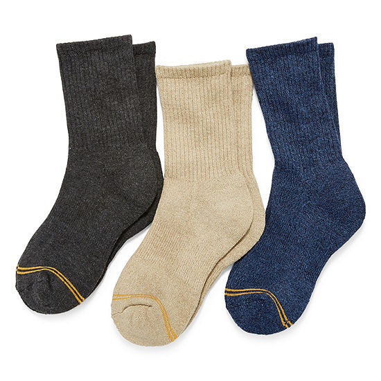 Gold Toe Little Boys 3 Pair Crew Socks