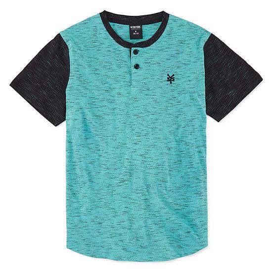 Zoo York Boys Short Sleeve Henley Shirt - Big Kid