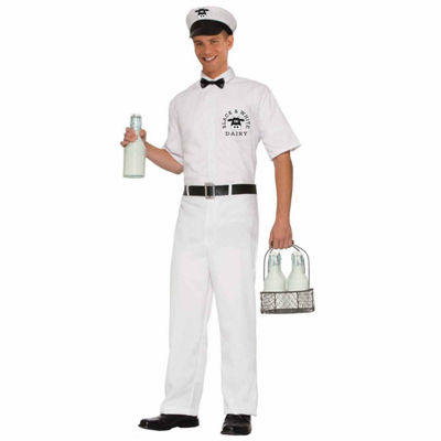 Adult Milkman Costume - One-Size
